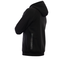 Laden Sie das Bild in den Galerie-Viewer, Reflective Hoodie, black, Swirl, side and back