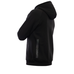 Reflective Hoodie, black, Swirl, side and back