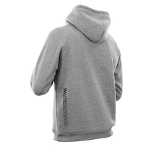 Laden Sie das Bild in den Galerie-Viewer, Reflective Hoodie, grey, Swirl, back and side