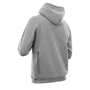 Reflective Hoodie, grey, Swirl, back and side