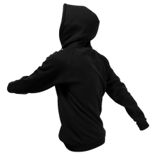 Laden Sie das Bild in den Galerie-Viewer, Reflective Hoodie, black, Waves, side and back