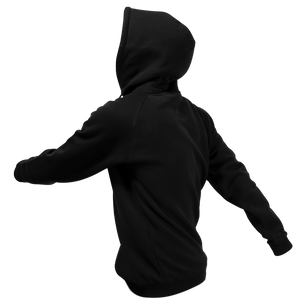 Reflective Hoodie, black, Waves, side and back