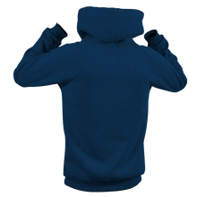 Laden Sie das Bild in den Galerie-Viewer, Reflective Hoodie, navy blue, Waves, back side