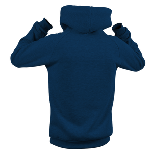 Reflective Hoodie, navy blue, Waves, back side