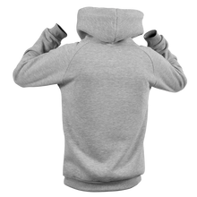 Laden Sie das Bild in den Galerie-Viewer, Reflective Hoodie, grey, Waves, back