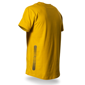 Reflective T-SHIRT, product picture back, mustard yellow, Swirl