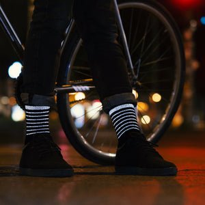 Reflective Bike Socks, black, night