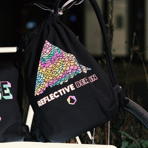 Rainbow reflective tote bag