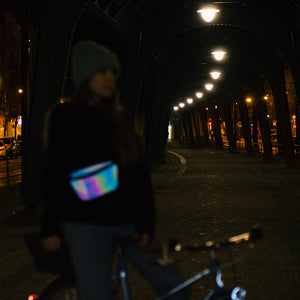 Rainbow reflective fanny pack, cycling accessories