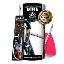 Laden Sie das Bild in den Galerie-Viewer, Reflective BIKE, DIY Sticker Kit, Cathedral Design, schwarz, premium