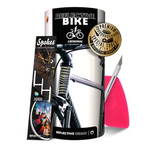 Reflective BIKE, DIY Sticker Kit, Cathedral Design, schwarz, premium