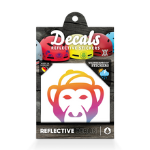 Laden Sie das Bild in den Galerie-Viewer, Reflective DECAL Monkey, reflektierender Motivsticker Affe, regenbogen
