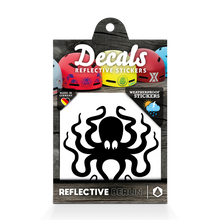 Laden Sie das Bild in den Galerie-Viewer, Reflective DECAL Octopus, reflektierender Motivsticker Tintenfisch, schwarz