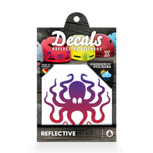 Laden Sie das Bild in den Galerie-Viewer, Reflective DECAL Octopus, reflektierender Motivsticker Tintenfisch, lila