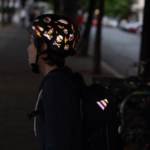 Teenager with reflectors
