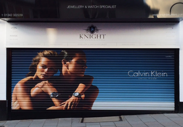 First Calvin Klein shutter in UK