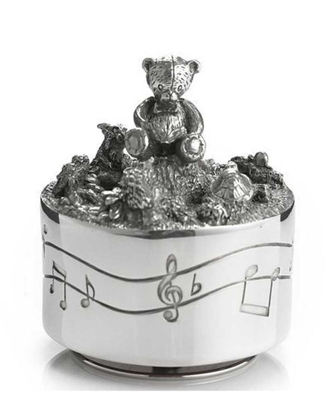 Royal Selangor Pewter Teddy Bear Music Carousel
