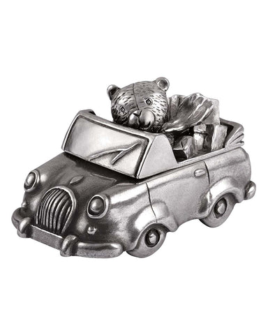 Royal Selangor Pewter Teddy Bear Car Tooth Box