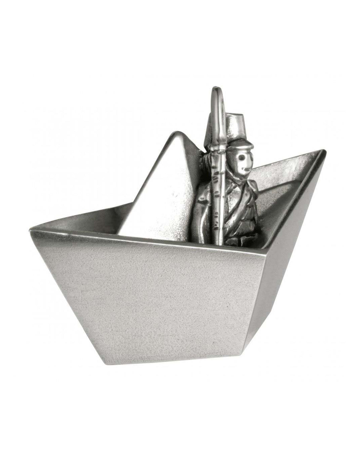 Royal Selangor Pewter Toy Soldier Boat Tooth Box