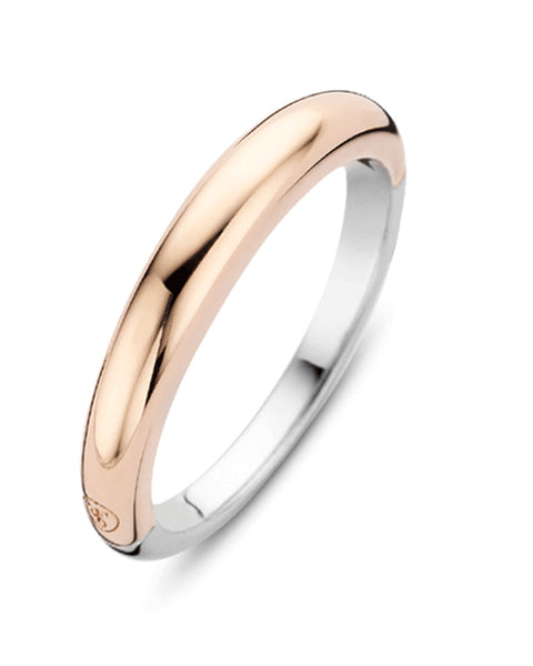 Ti Sento 18ct Rose Gold Plated Silver Plain Band Ring