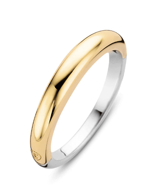 Ti Sento 18ct Gold Plated Silver Plain Band Ring