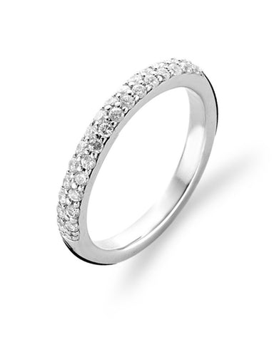 Ti Sento Sterling Silver & White Cubic Zirconia Ring - 1414ZI