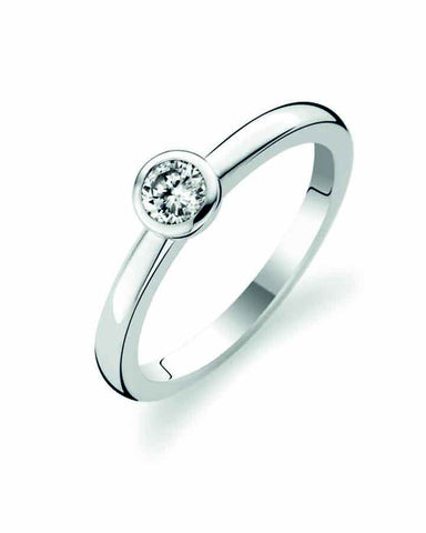 Ti Sento Milano Silver Ring with White Zirconia 1868ZI