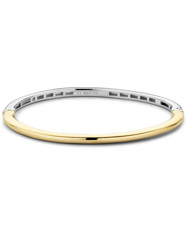 Ti Sento 18ct Gold Plated Silver Bangle