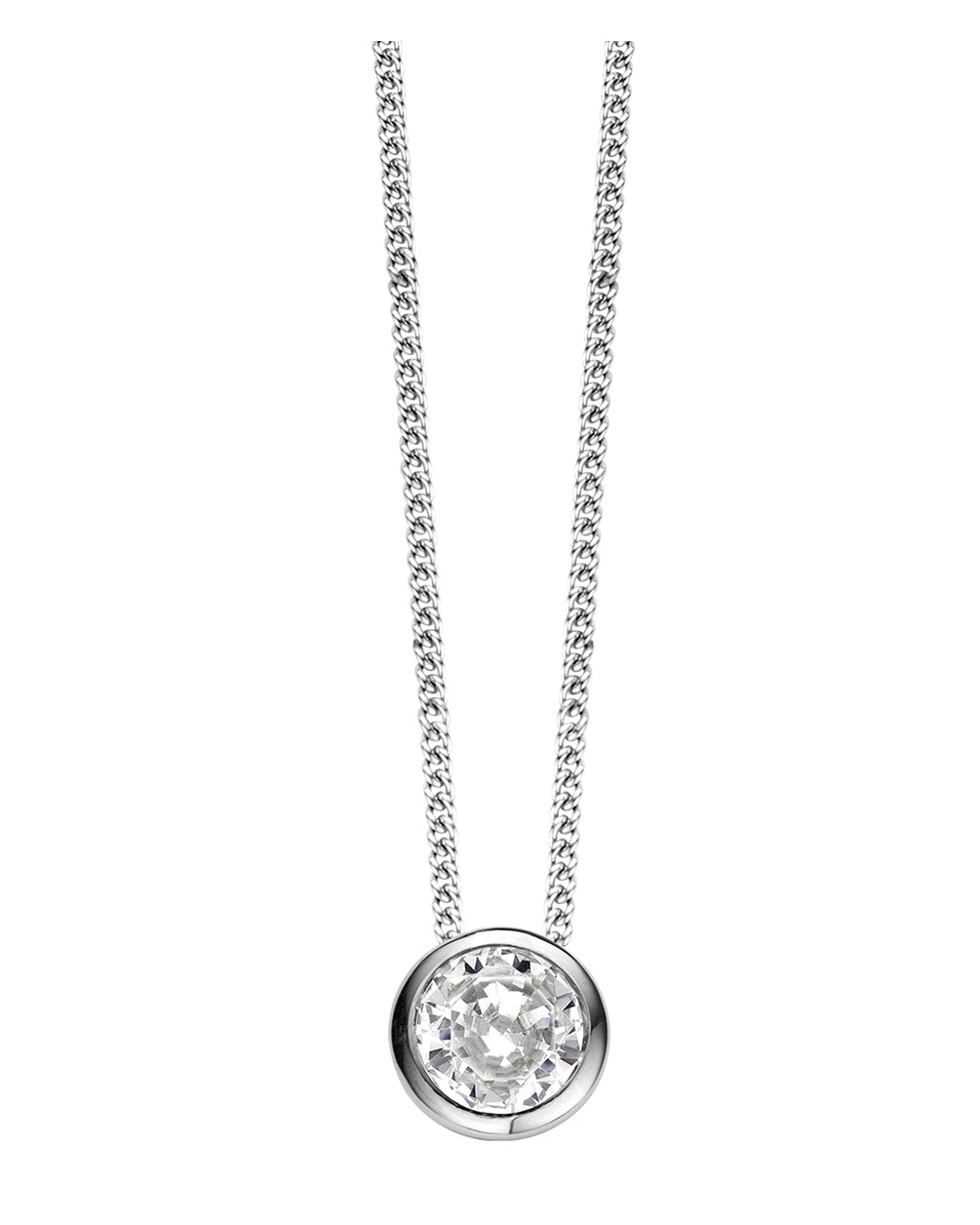 Ti Sento Sterling Silver & Cubic Zirconia Necklace