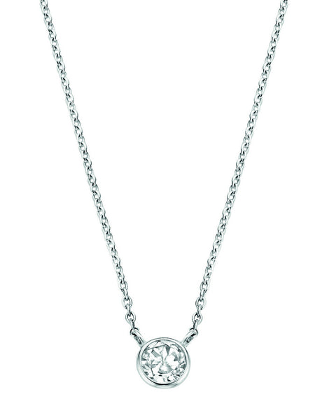 Ti Sento Silver Necklace with White Zirconia 3845ZI