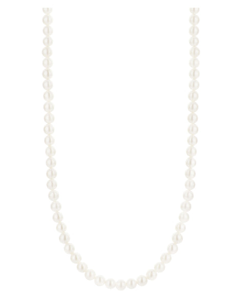 "Ti Sento 16"" White Pearl Strand Necklace"