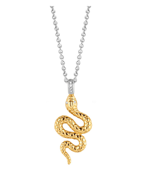 Ti Sento 18ct Yellow Gold Plated Silver Snake Necklace