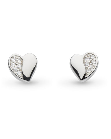 Kit Heath Miniature Sparkling Sweet Heart Stud Earrings