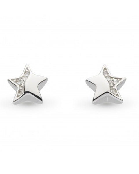 Kit Heath Miniature Sparkling Star Stud Earrings