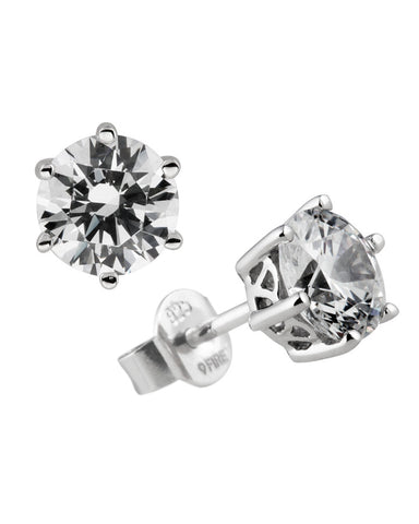 Diamonfire Silver & Zirconia Stud Earrings - 62/1264/1/082