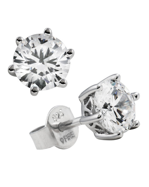 Diamonfire Cubic Zirconia & Silver Stud Earrings - 62/1265/1/082