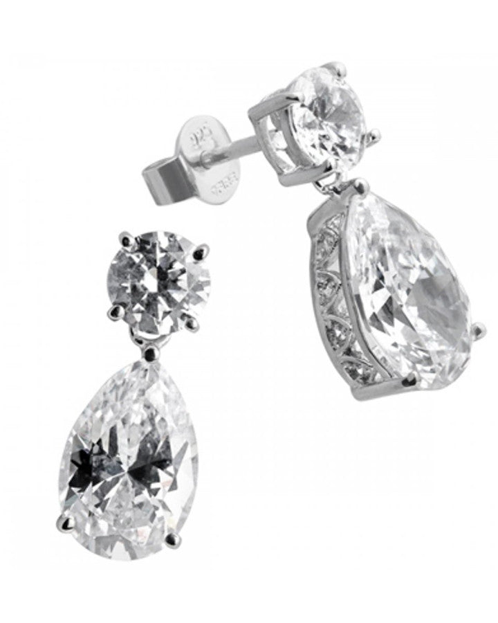 products statement lane drop jay earrings cz pear by kenneth
