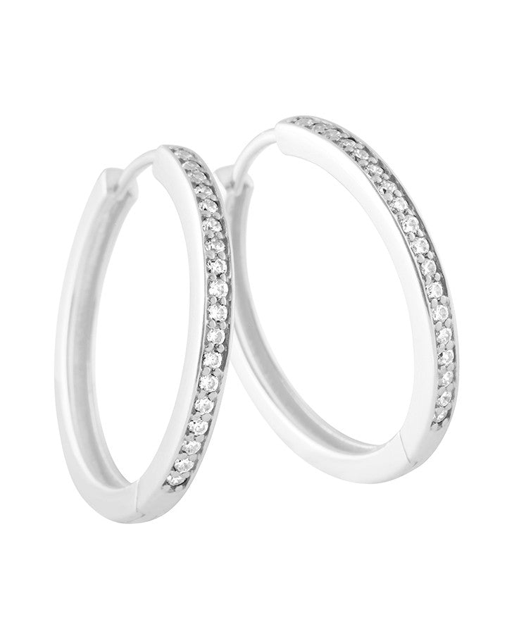 Diamonfire Sterling Silver Cubic Zirconia Hoop Earrings - 62/1686/1/582