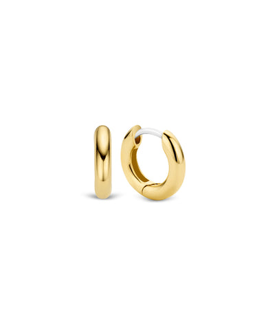 Ti Sento Small 18ct Gold Plated Silver Hoop Earrings