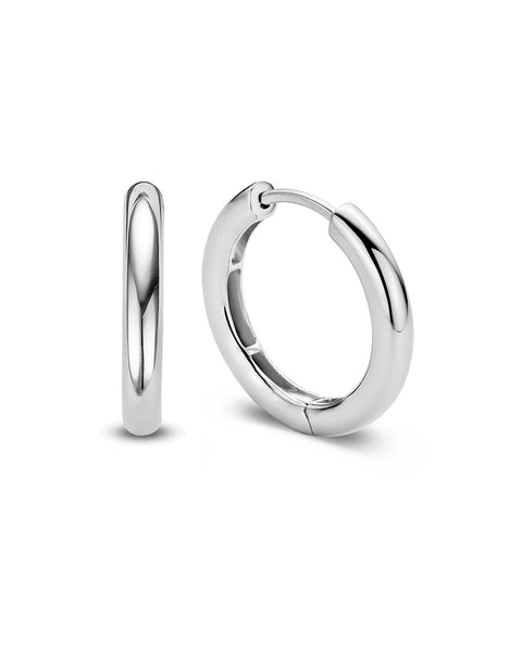 Ti Sento Medium Sterling Silver Hoop Earrings