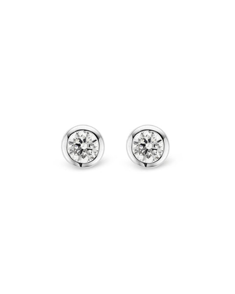 Ti Sento Sterling Silver & Cubic Zirconia Stud Earrings