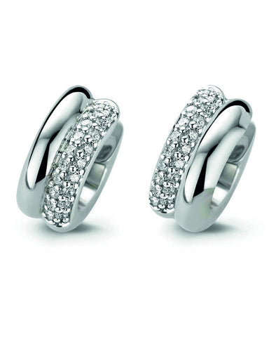 Ti Sento Silver Earrings with Cubic Zirconia 7643ZI
