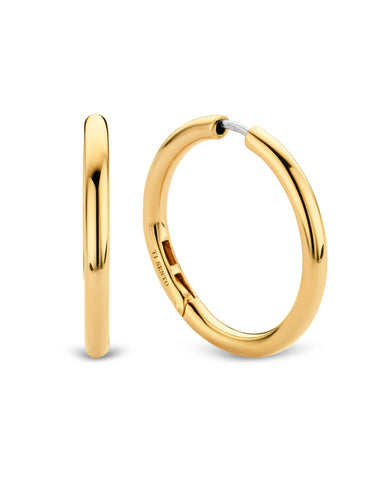 Ti Sento Large 18ct Gold Plated Silver Hoop Earrings