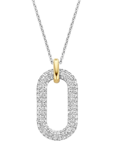 TI SENTO Sterling silver and cubic zirconia pendant 3964ZY