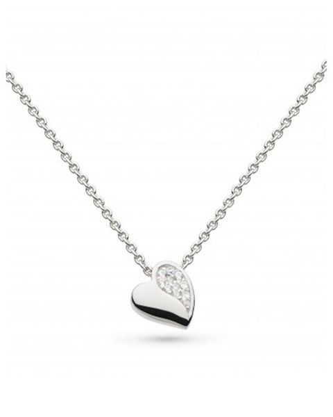 Kit Heath Miniature Sparkling Sweet Heart Necklace