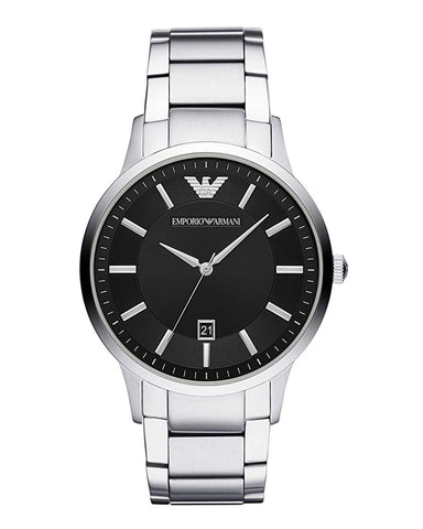 Emporio Armani Black Dial Gents Bracelet Watch