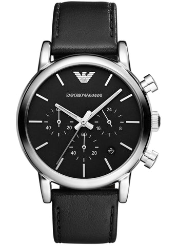 Emporio Armani Classic Luigi Leather Strap Gents Watch