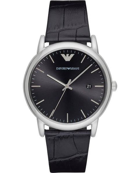 Emporio Armani Classic Leather Strap Gents Watch