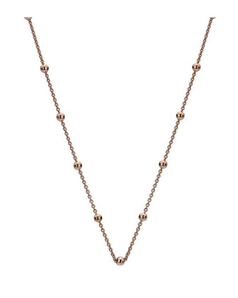 "Emozioni Rose Gold Plated 30"" Intermittent Bead Chain"