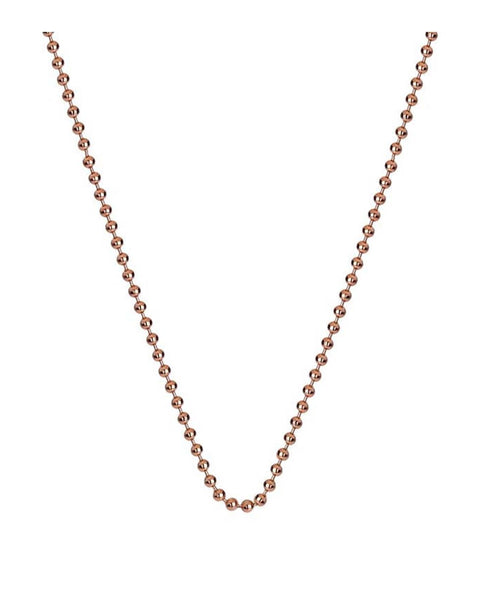 "Emozioni Rose Gold Plated 30"" Bead Chain"